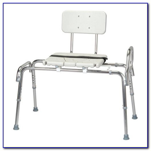 Sliding Shower Chair Tub Mounted Bath Transfer Bench With Swivel Seat