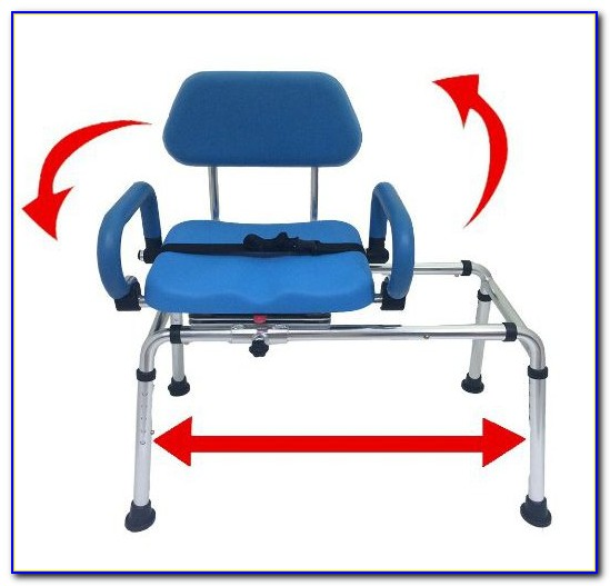 Sliding Transfer Bench With Molded Swivel Seat