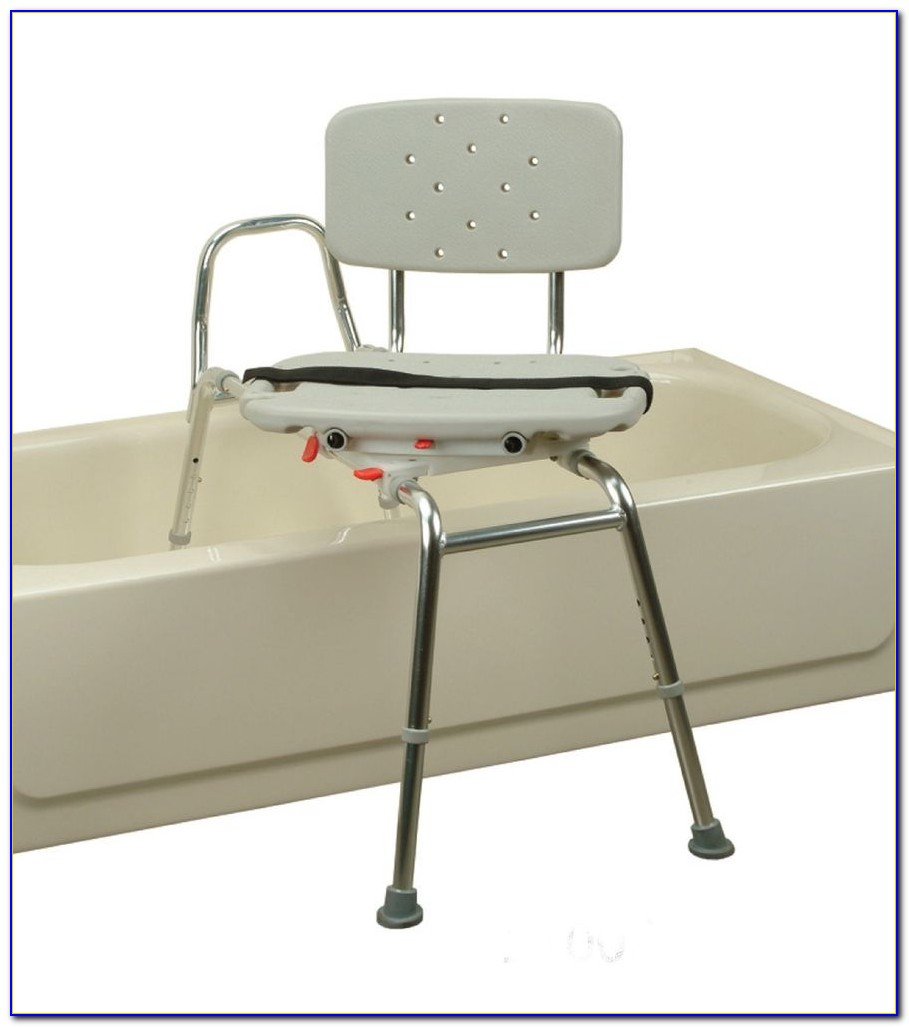 Sliding Transfer Bench With Swivel Seat And Cut Out