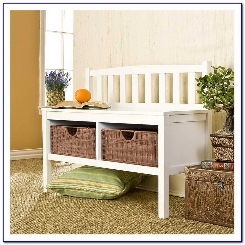 Small Storage Bench For Entryway