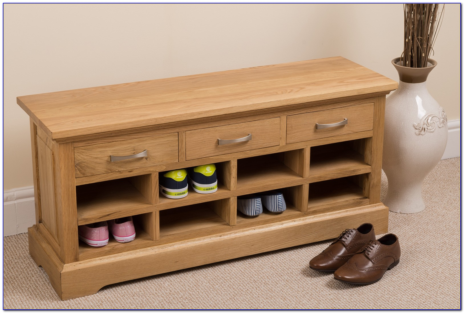 Solid Wood Shoe Bench Storage Bench Furniture