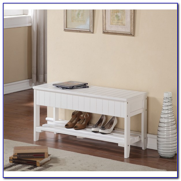 Solid Wood Shoe Cubby Bench