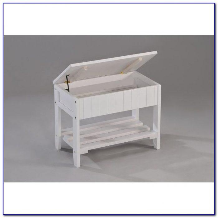 Solid Wood Storage Shoe Bench Shelf