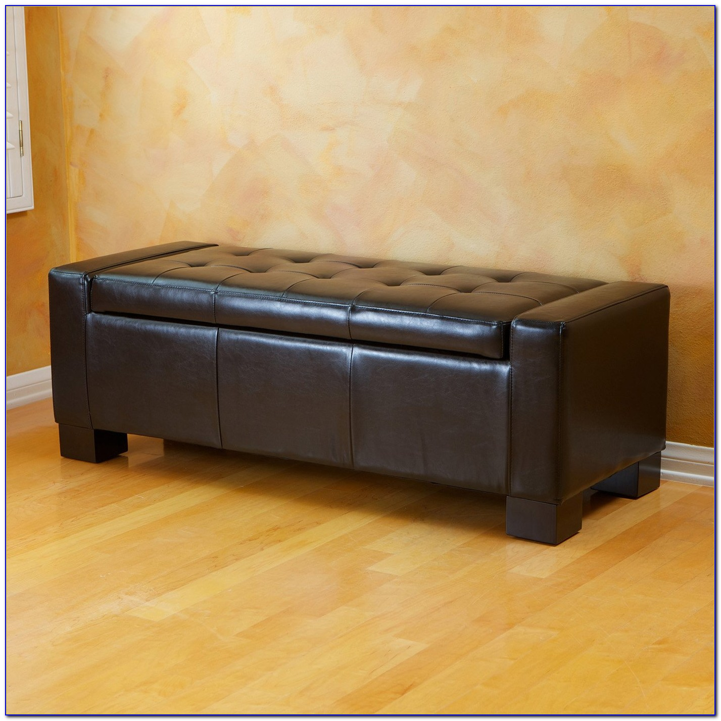 Storage Ottoman Bench With Tray