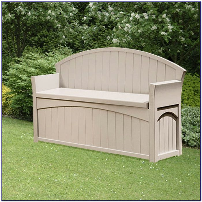 Suncast Outdoor Patio Bench Storage Box