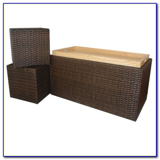 Suncast Resin Wicker Bench Benches
