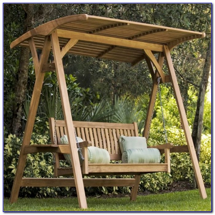 Swing Bench With Canopy