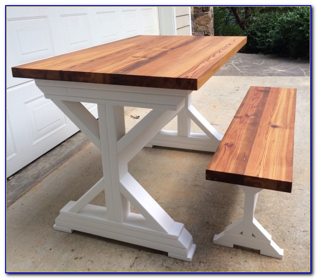 Trestle Dining Table And Bench
