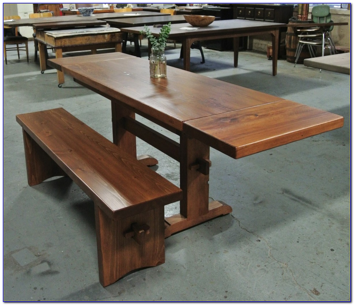 Trestle Table With Benches Bench Home Design Ideas
