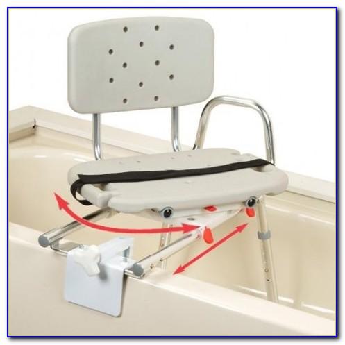 Tub Mount Sliding Transfer Bench With Swivel Seat