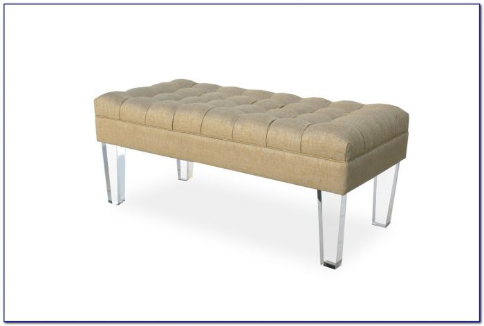 Tufted Bench With Lucite Legs