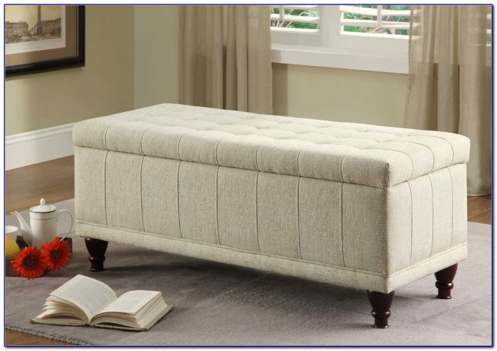 Tufted Ottoman Bench With Storage