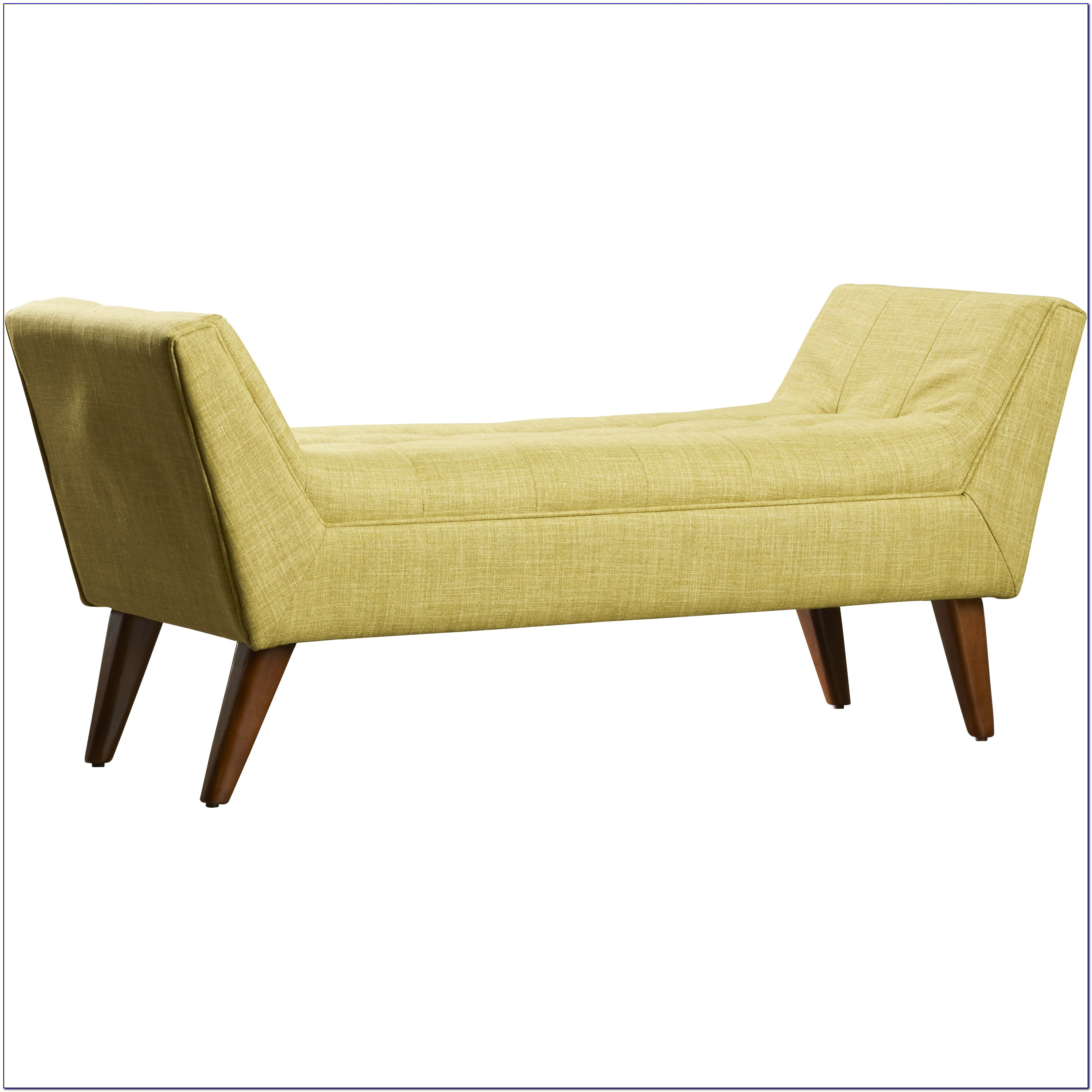 Tufted Storage Bench With Arms