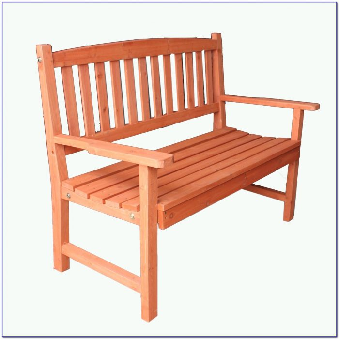 Two Seater Wooden Bench With Table
