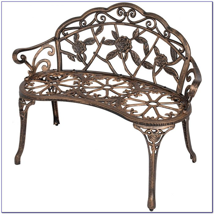 Vintage Wrought Iron Park Bench