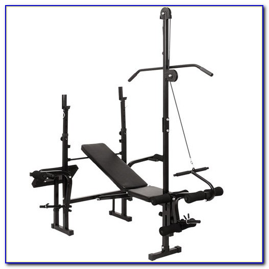 Weight Bench With Lat Pulldown And Preacher Pad