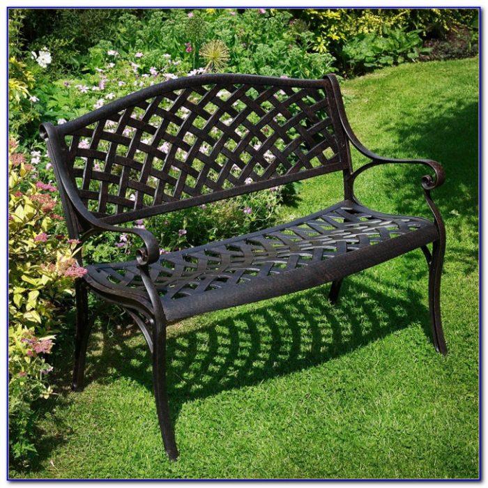 White Cast Aluminum Garden Benches