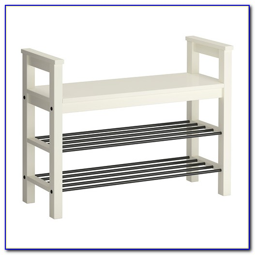 White Shoe Storage Bench Ikea