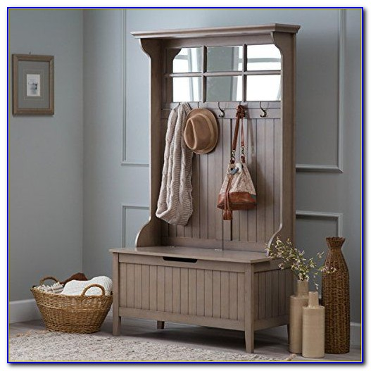 Wildon Home Brewster Hall Tree With Storage Bench And Mirror
