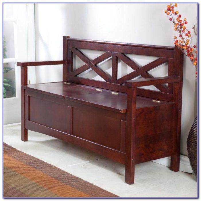 Wood Benches With Storage Indoor
