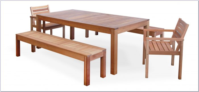 Wood Corner Bench With Dining Table Set
