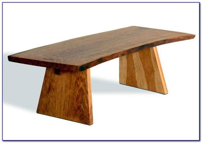Wooden Bench As Coffee Table