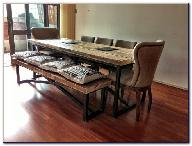 Wooden Bench Dining Room Table