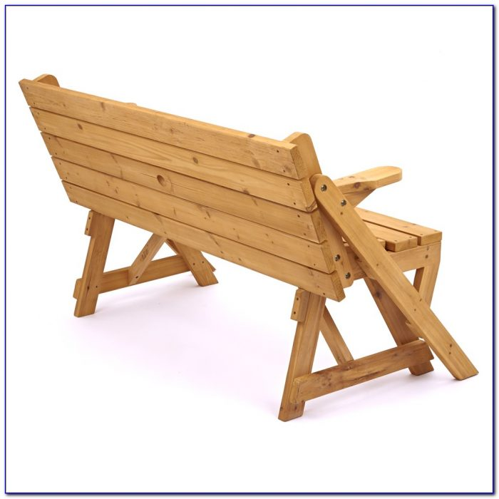 Wooden Bench That Converts To Picnic Table