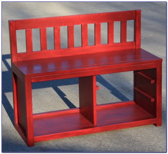 Wooden Bench With Shoe Rack