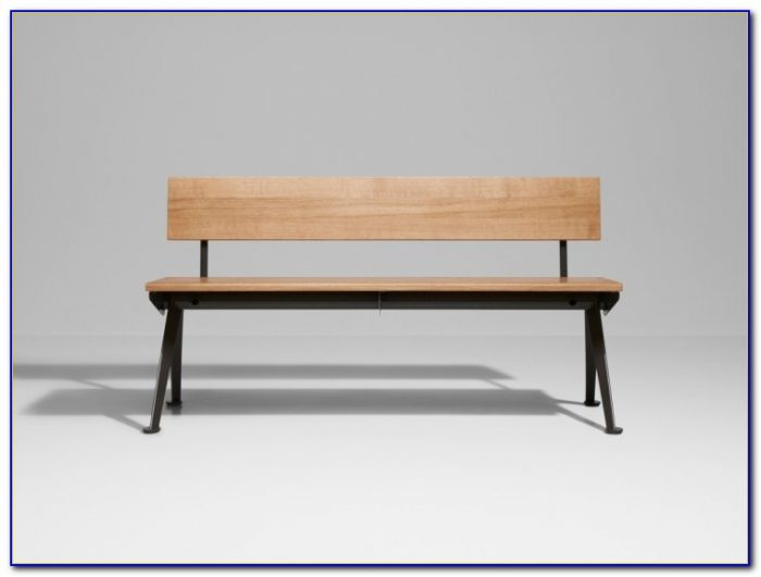 Wooden Benches With Backrest