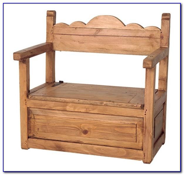 Wooden Benches With Storage Indoor