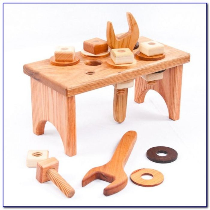 Wooden Childrens Tool Bench