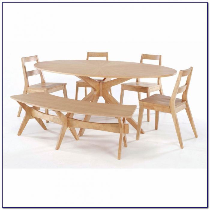 Wooden Dining Table Set With Bench