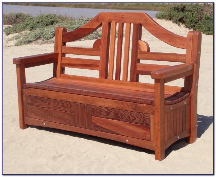 Wooden Garden Benches With Storage