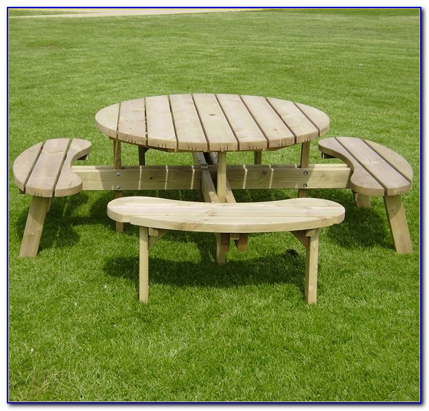 Heavy Duty Round Picnic Benches Bench Home Design