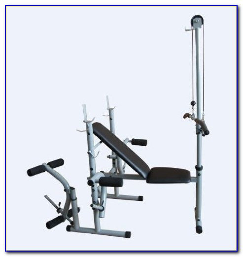 Workout Bench With Lat Pulldown