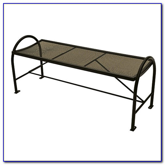 Wrought Iron Backless Bench Outdoor