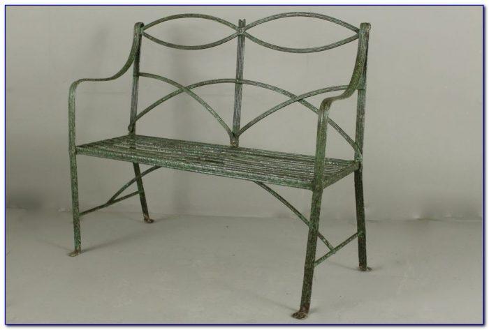 Wrought Iron Garden Bench Antique