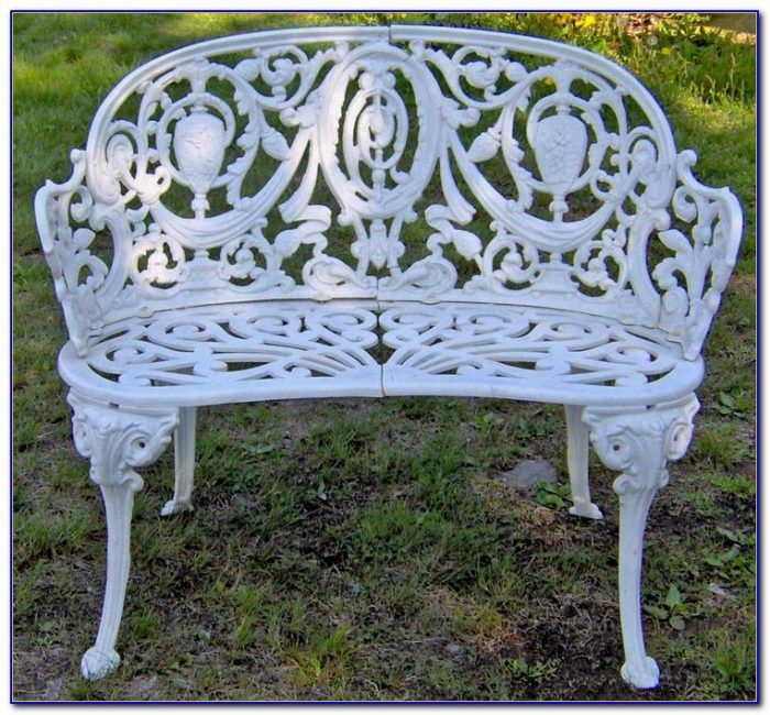 Wrought Iron Garden Bench Perth