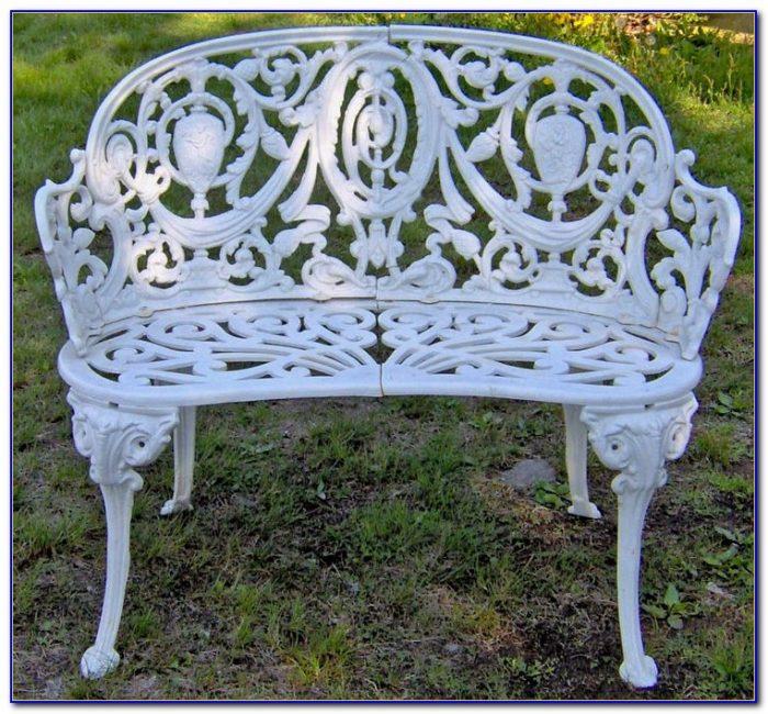 Wrought Iron Garden Bench Perth