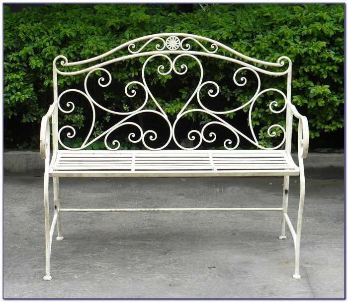 Wrought Iron Garden Bench Small
