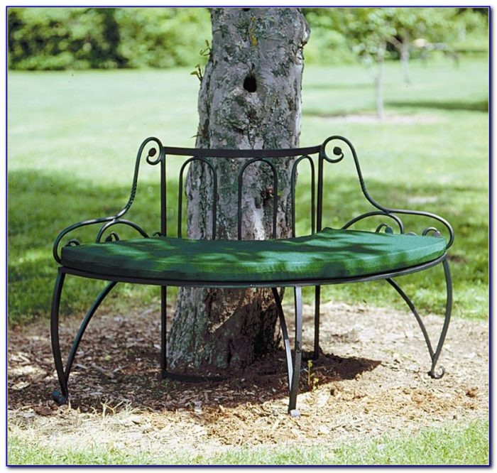 Wrought Iron Garden Benches Black