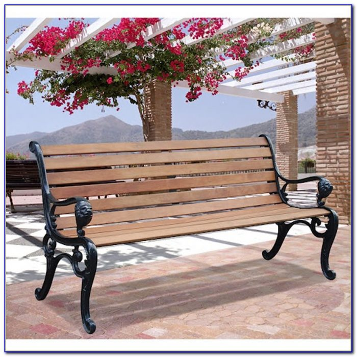 Wrought Iron Outdoor Bench Seat