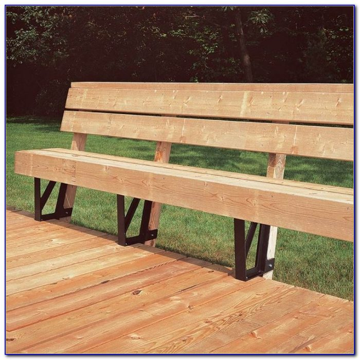 2x4 Basics Bench Brackets For Decks