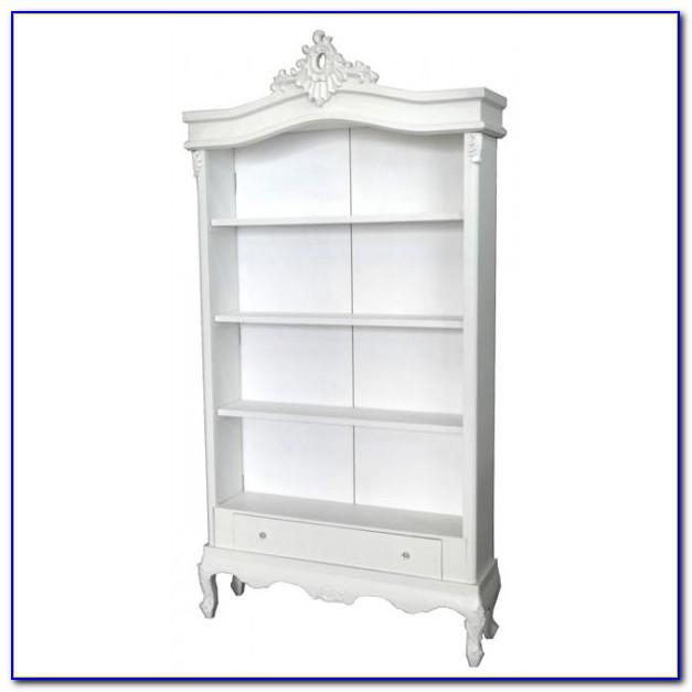 Antique White Bookcase Headboard