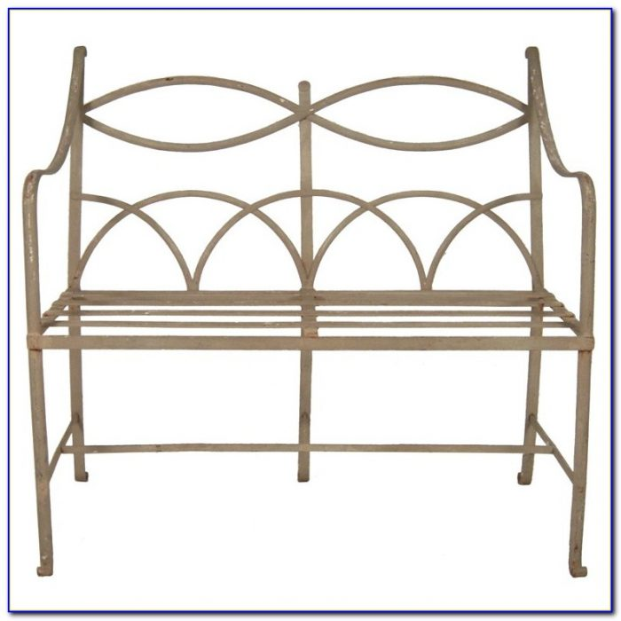 Antique Wrought Iron Outdoor Benches