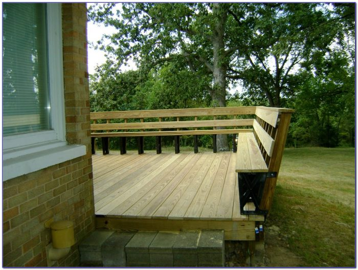 Bench Brackets For Deck Or Dock Bench Home Design