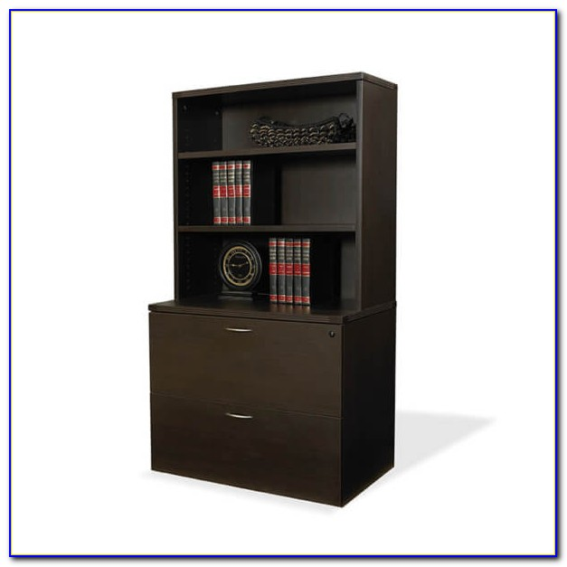 Black Bookcase With File Cabinet