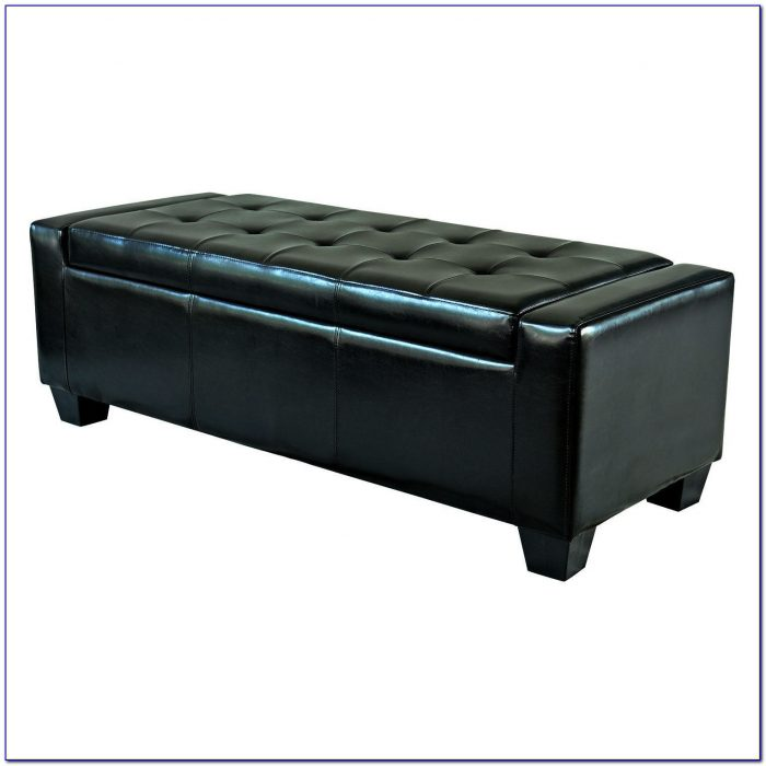 Tufted Faux Leather Storage Bench Bench Home Design Ideas Qbn1oyxyq4105654