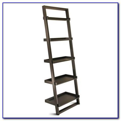 Black Leaning Bookshelf